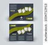 brochure template. business... | Shutterstock .eps vector #1034712913