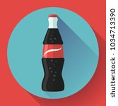 cola bottle icon soda bottle... | Shutterstock .eps vector #1034713390