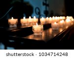 Lighted Candles In The Church...
