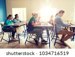 education  learning and people... | Shutterstock . vector #1034716519