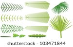 set of palm leaves | Shutterstock .eps vector #103471844