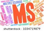ms multiple sclerosis word... | Shutterstock .eps vector #1034719879