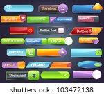 big web elements vector button... | Shutterstock .eps vector #103472138
