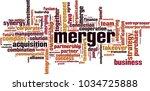 merger word cloud concept.... | Shutterstock .eps vector #1034725888