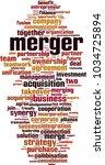 merger word cloud concept.... | Shutterstock .eps vector #1034725894