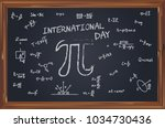 geometric symbols on the school ... | Shutterstock .eps vector #1034730436