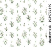 seamless pattern with beautiful ... | Shutterstock .eps vector #1034731690