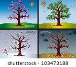 four seasons | Shutterstock . vector #103473188