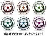 soccer vector icon set. silver...