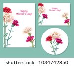 set of templates for mother's... | Shutterstock .eps vector #1034742850