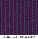 isometric grid. vector seamless ... | Shutterstock .eps vector #1034743069