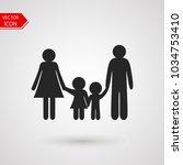 family logo. vector... | Shutterstock .eps vector #1034753410