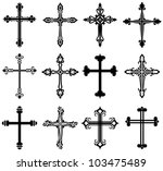 religious cross design... | Shutterstock .eps vector #103475489