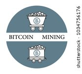 mining of bitcoins. mining... | Shutterstock .eps vector #1034756176