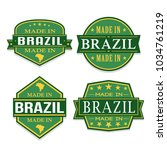 made in brazil approved quality ... | Shutterstock .eps vector #1034761219