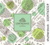 background with lemongrass ... | Shutterstock .eps vector #1034763319