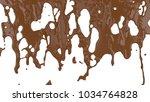 flowing molten chocolate. 3d... | Shutterstock . vector #1034764828