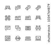 communication smart... | Shutterstock .eps vector #1034764879