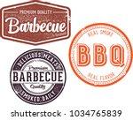 premium barbecue vintage stamp... | Shutterstock .eps vector #1034765839