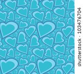 hearts   seamless pattern | Shutterstock .eps vector #103476704