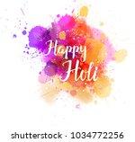 watercolor imitation... | Shutterstock .eps vector #1034772256