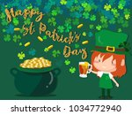 happy saint patrick's day... | Shutterstock .eps vector #1034772940