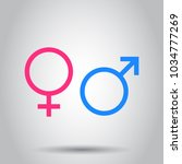 gender sign icon. vector... | Shutterstock .eps vector #1034777269