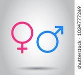 gender sign icon. vector... | Shutterstock .eps vector #1034777269
