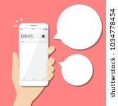 smart phone infographics with... | Shutterstock .eps vector #1034778454