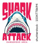 shark attack poster   t shirt...