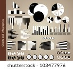 black and white charts and... | Shutterstock .eps vector #103477976