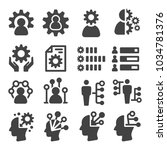 skill ability icon set | Shutterstock .eps vector #1034781376