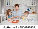 children boy and girl are...   Shutterstock . vector #1034782810