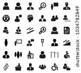 flat vector icon set  ... | Shutterstock .eps vector #1034782849