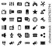 flat vector icon set   music... | Shutterstock .eps vector #1034783794
