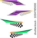 vehicle graphics  stripe  ... | Shutterstock .eps vector #1034785030
