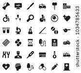flat vector icon set   pills...   Shutterstock .eps vector #1034785633