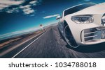 sport car scene. 3d rendering... | Shutterstock . vector #1034788018