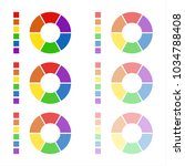 collection of rounded diagrams... | Shutterstock . vector #1034788408