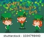 happy saint patrick's day... | Shutterstock .eps vector #1034798440