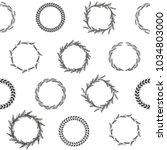 wreaths of ears. vector... | Shutterstock .eps vector #1034803000