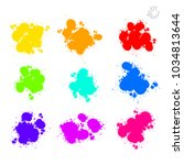 set of vector splat drops... | Shutterstock .eps vector #1034813644