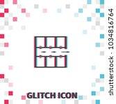 evacuation plan  glitch effect... | Shutterstock .eps vector #1034816764