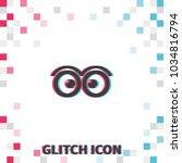 cute cartoon eyes  glitch... | Shutterstock .eps vector #1034816794