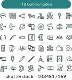 it and communication icons ...