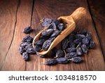 Dark Raisins In A Scoop On A...