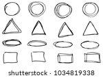 doodle vector circles ... | Shutterstock .eps vector #1034819338