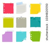 crumpled exercise sheet is... | Shutterstock .eps vector #1034820550