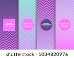 holographic magenta pink to... | Shutterstock .eps vector #1034820976