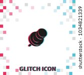 push pin glitch effect vector...